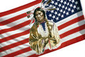 Native American flag Royalty Free Stock Photos