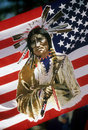 Native American flag Stock Photo