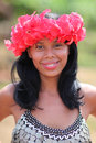 Native american girl embera tribe a young of the middle americas Stock Photography