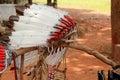 Native american indian chief headdress Royalty Free Stock Photo