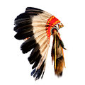 Native american indian chief headdress mascot tribal Stock Photos