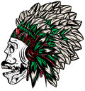 Native american indian chief headdress t shirt graphics cool design Stock Photography