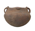 Native American Indian pottery isolated. Royalty Free Stock Photo