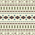 Native American Indian seamless pattern ethnic traditional geometric art with retro vintage design elements and arrows Aztec Inca