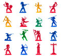 Native American Indian warriors plastic toys Royalty Free Stock Photography