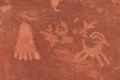 Native American Indian writing on Rock Stock Photos