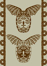 Native American mask Royalty Free Stock Photo