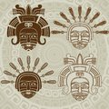Native American mask Royalty Free Stock Photo