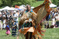 Native american pow wow this photograph is of a woman dancing at a in inwood park manhattan may Stock Images