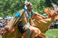 Native american pow wow this photograph is of an woman dancing at a in inwood park manhattan new york sunday may th Stock Images