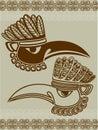 Native American raven mask Royalty Free Stock Photo