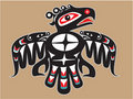 Native American Style Thunderbird Stock Photo