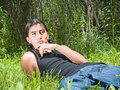 Native American teenage boy Stock Images