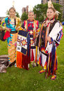 Native american women at first people pow wow Royalty Free Stock Photography