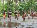 Native Dancers in Vanuatu Stock Photography