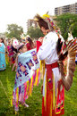 Native first nation american indian pow wow  Royalty Free Stock Image