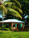 Native house in jungle corn island nicaragua Royalty Free Stock Images