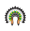 Native indian headdress vector Stock Photos