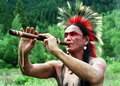 Native Indian Musician Stock Photography