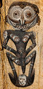 Native mask papua new guinea from a tribe that workships crocodiles Stock Photos