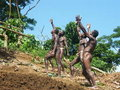 Native men in Vanuatu Royalty Free Stock Photo