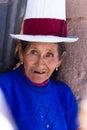 Native Peruvian woman Royalty Free Stock Photo