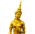 Native thai style angel statue on white background Stock Image