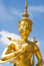 Native Thai style of angle statue Royalty Free Stock Photo