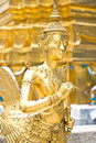 Native Thai Style of half angle and bird sculpture Royalty Free Stock Photography