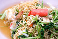 Native Thai style of Noodle mix salad Royalty Free Stock Image