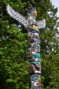 Native Totem Pole Stock Image