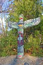 Native Totem Pole at Rideau Hall Park in Ottawa, Canada