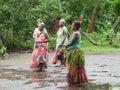 Native women in Vanuatu Royalty Free Stock Images