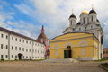 Nativity cathedral the mother of god central building st pafnutyevo borovsky monastery Royalty Free Stock Photo