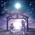 Nativity Christmas Scene Royalty Free Stock Photo