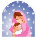 Nativity: Mary and baby Jesus Stock Photo
