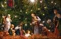 Nativity Scene. Adoration of the Magi. Royalty Free Stock Photo