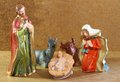 Nativity scene with baby jesus Mother Mary and joseph Royalty Free Stock Photo