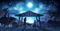 Nativity Scene Christmas Royalty Free Stock Photo