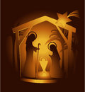 Nativity scene christmas decoration with holy family Royalty Free Stock Photography
