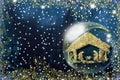 Nativity Scene Christmas greetings cards Royalty Free Stock Photo