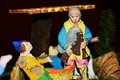 Nativity scene, colorful details Royalty Free Stock Photo