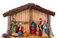 Nativity scene in front of white background Royalty Free Stock Photography