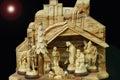 Nativity scene with holy family Royalty Free Stock Photo