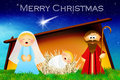 Nativity scene illustration of christmas Royalty Free Stock Images