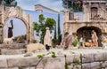 Nativity scene in Italy Royalty Free Stock Photo