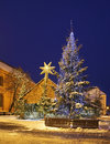 Nativity scene on Small Market square in Torun.  Poland Royalty Free Stock Photo