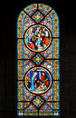 Nativity Scene. Stained glass Royalty Free Stock Photo