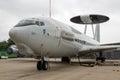 NATO E3 Sentry radar dome plane Royalty Free Stock Photo