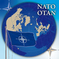 Nato flag and map original file Stock Photography